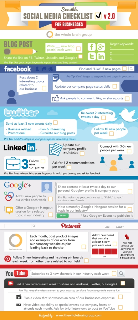 Sensible Social Media Checklist Infographic