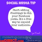 OM Social Media Tip Hashtags