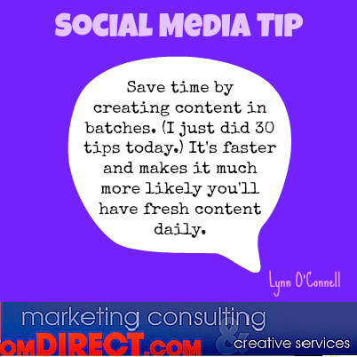 OM Tip Create content in batches